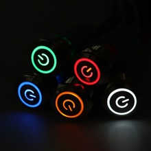 16mm Metal Push Button Switch LED power mark locking Latching Self-reset Momentary 1NO 1NC red blue yellow green white 3v6v12v24