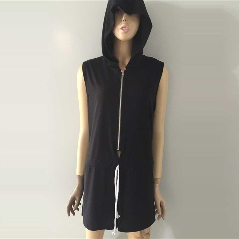 6d4ccfd58fd8 Hooded jumpsuit women new fashion summer style sleeveless jpg 800x800  Styling hooded jumpsuit