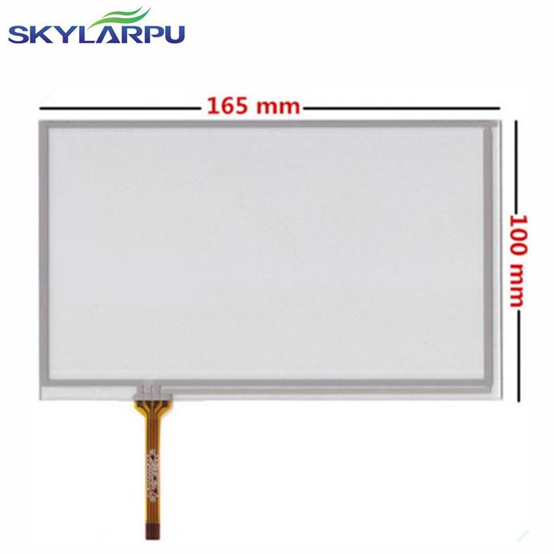 """skylarpu новый 7 """"дюймовый 4 провода резистивный датчик экран 165 мм * 100 мм панель для gemei gm2000 датчик экран панель бесплатная доставка"""
