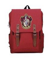 4 colors Harri Potter related backpack Gryffindor Slytherin Symbol Outdoor Bags schoolbag for girl boy men red green black