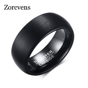 ZORCVENS Black Punk Men's Ring