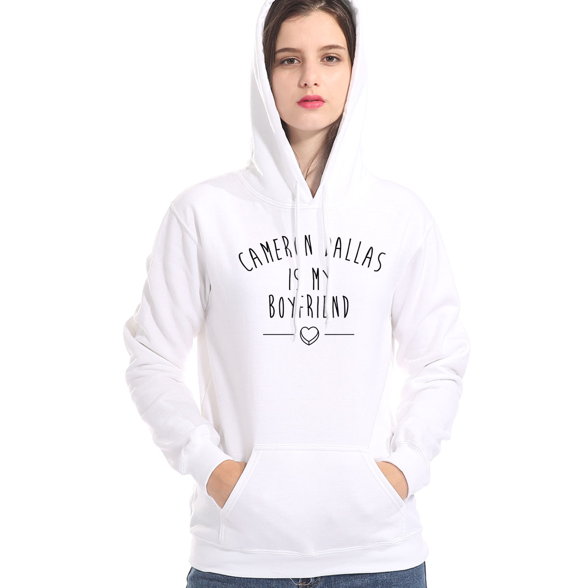Spring Winter Fashion Women's Hoodies 2019 Casual Pullover Tops CAMERON DALLAS IS MY BOYFRIEND Sweatshirts Harajuku Sportswear