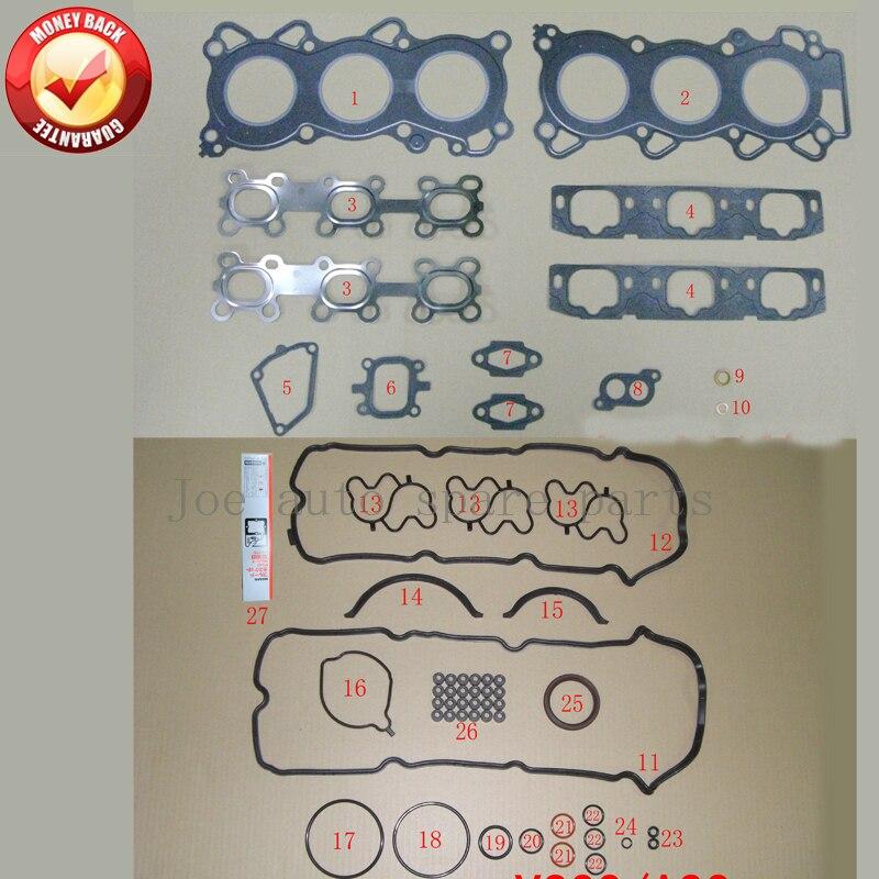 VQ20DE Engine Full gasket set kit for Nissan Cefiro A33 1994-2003 1995cc 2.0L 10101-6Y225 101016Y225VQ20DE Engine Full gasket set kit for Nissan Cefiro A33 1994-2003 1995cc 2.0L 10101-6Y225 101016Y225
