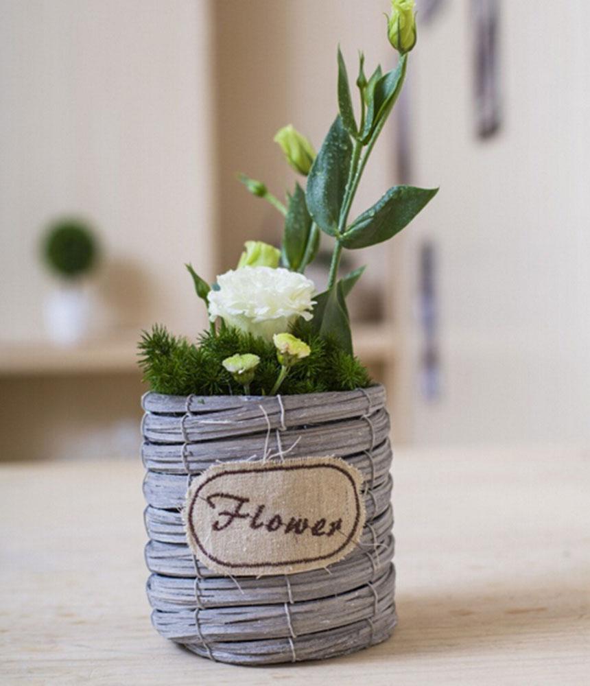 AliExpress & Wicker flower pots planters home decoration bonsai desk top design DIY decor wedding supply pastoral style-in Bottles Jars \u0026 Boxes from Home \u0026 Garden ...