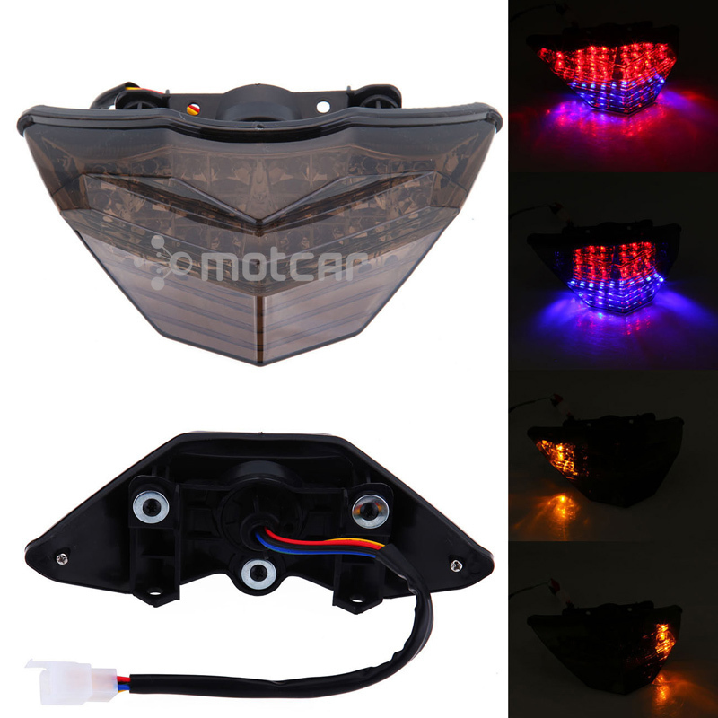 New Motorcycle LED Smoked Lens Integrated LED Rear Tail Light Tail Turn Signals Light Fits For KAWASAKI Ninja 300 2013 EX300 for ducati monster diesel 696 750 795 796 1100 2009 2010 2011 2012 2015 rear tail light brake turn signals integrated led light