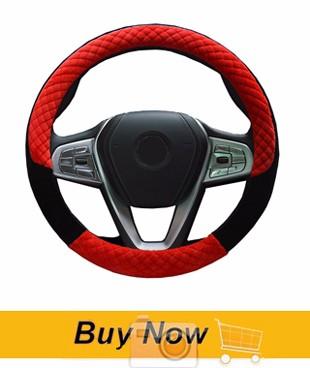 06 Winter Warm Soft Plush Car Steering Wheel Cover