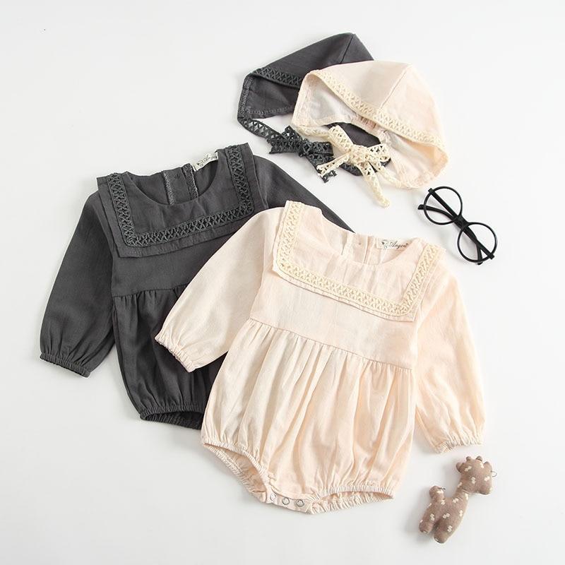 Nfant Toddler Baby Girl Rompers Free Hat Autumn Kid Korean ... Korean Toddler Clothes