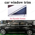 Для H-yundai Sonata 11-14 из нержавеющей стали автомобильный Стайлинг отделка окна декоративные полосы аксессуары