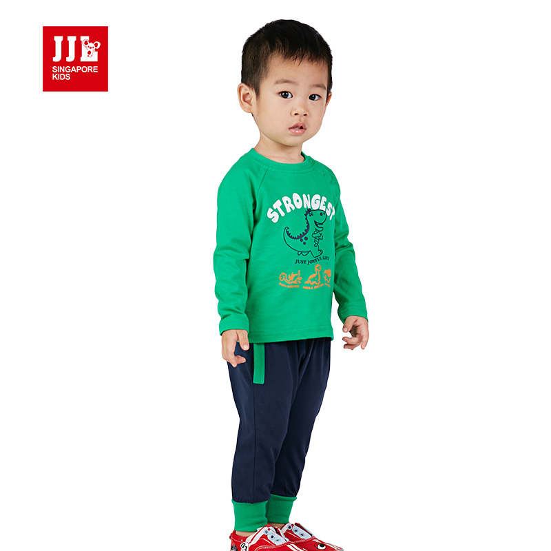 цена на news babys boys cartoon printing sets kids fall clothes +bottoms 2 packs fashion suits