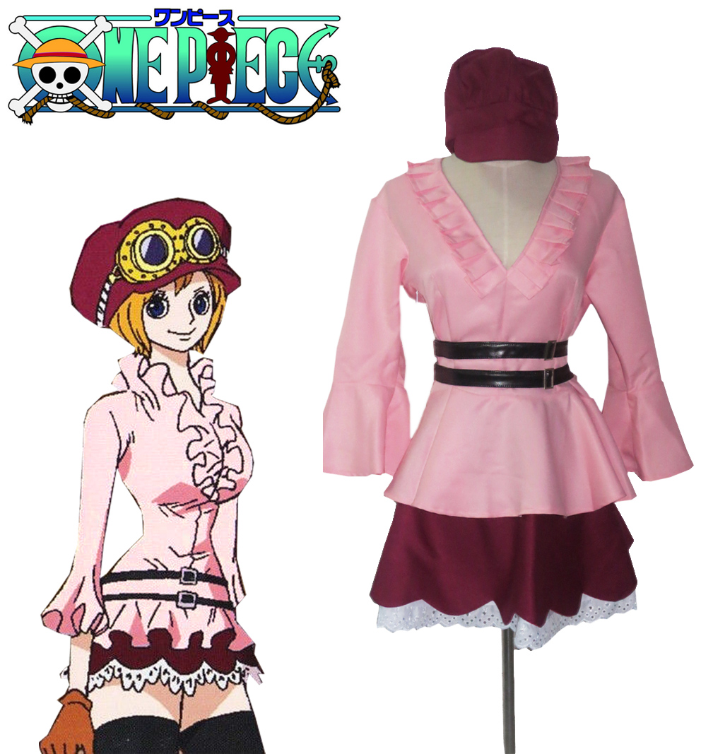 Free Shipping One Piece Koala Pink Lolita Dress Anime Cosplay Costume
