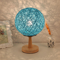 Twine Sepak Takraw Lamps Bedroom Bedside Lamps Decorative Lamps Night Lights With US Plug
