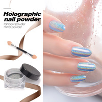 Hot Sale Laser Silver Holographic UV Nail Glitter Powder DIY Nail Art Mirror Powder Shiny Chrome