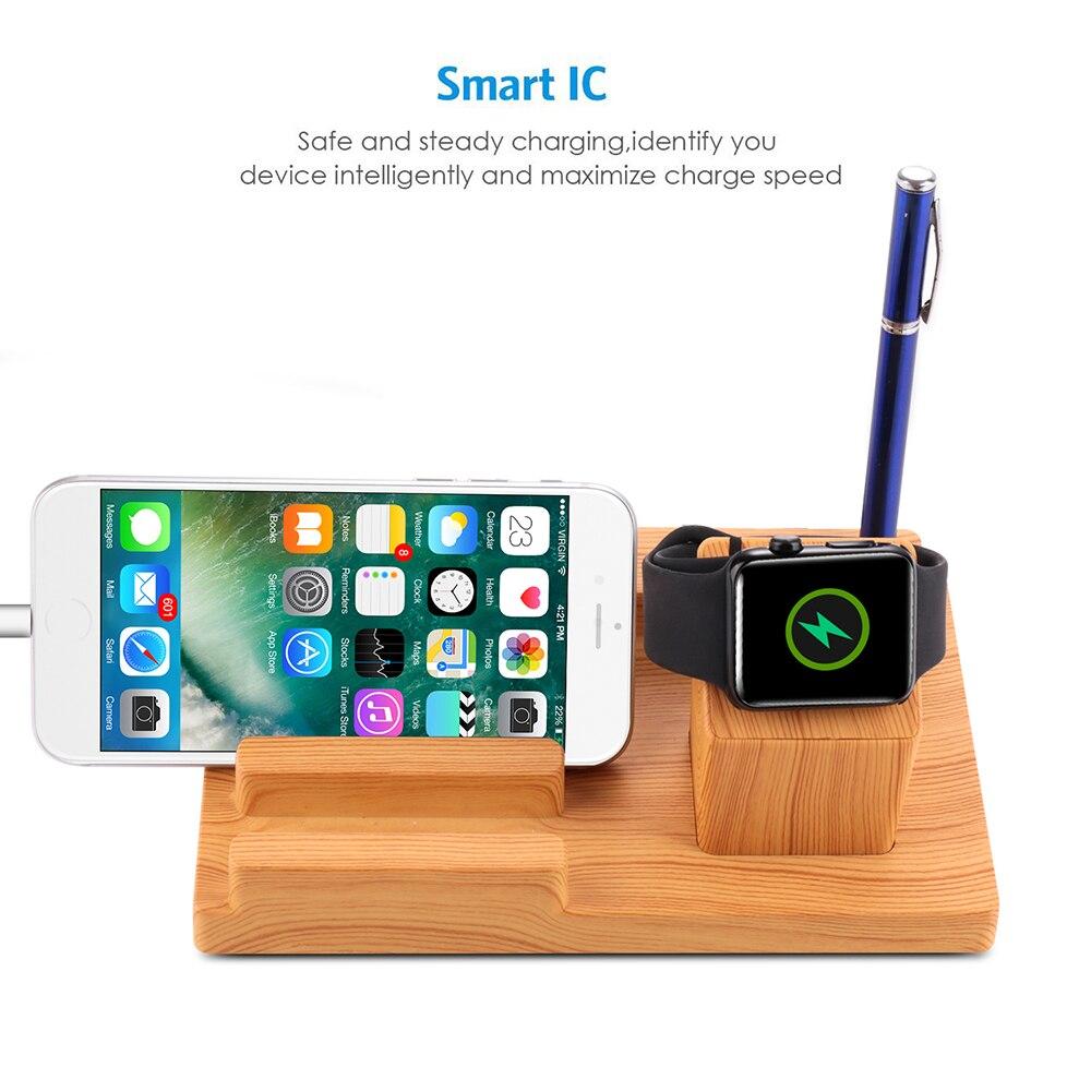 Несколько USB зарядная док-станция, 4 порта зарядное устройство Настольный органайзер для Apple watch, для iPhone, для samsung и всех устройств