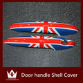 Nigh Lord 2pcs For Mini Cooper R55 R56 R57 R58 R59 R60 Accessories Doorknob Door handle Shell Cover Union Jack Checker Flag