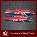 Nigh Lord 2pcs For Mini Cooper R55 R56 R57 R58 R59 R60 Accessories Doorknob Door handle Shell Cover Union Jack Checker Flag