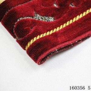 Image 3 - Kalınlaşmak kaşmir müslüman seccadesi High end şönil ibadet halı 110*70cm islam Musallah kilim arap Anti slip mat