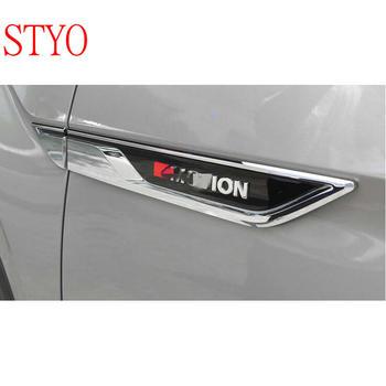 STYO سيارة ABS الكروم الجانب الجناح درابزين الهواء دليل فتحات غطاء الإطار تريم ل VW أطلس Teramont 2017 2018