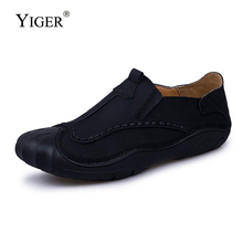 YIGER New Men Casual shoes Man Loafers Slip-on Big Size38-45 Male Leisure Soft Boat Spring/Autumn Driving  193