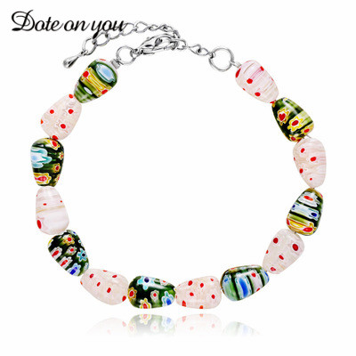 New Arrival Trendy Elastic 7mm Mixed Color Glass Beads Bracelets for Women Girls Fit Christmas Gift 2017 Hot Sale Fashion Women