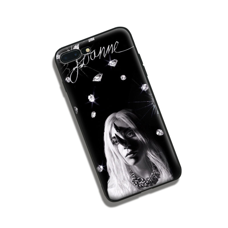 Lady joanne gaga soft silicone TPU Phone Case cover Shell For Apple iPhone 5 5S SE 6 6S 6Plus 6sPlus 7 7Plus 8 8Plus X