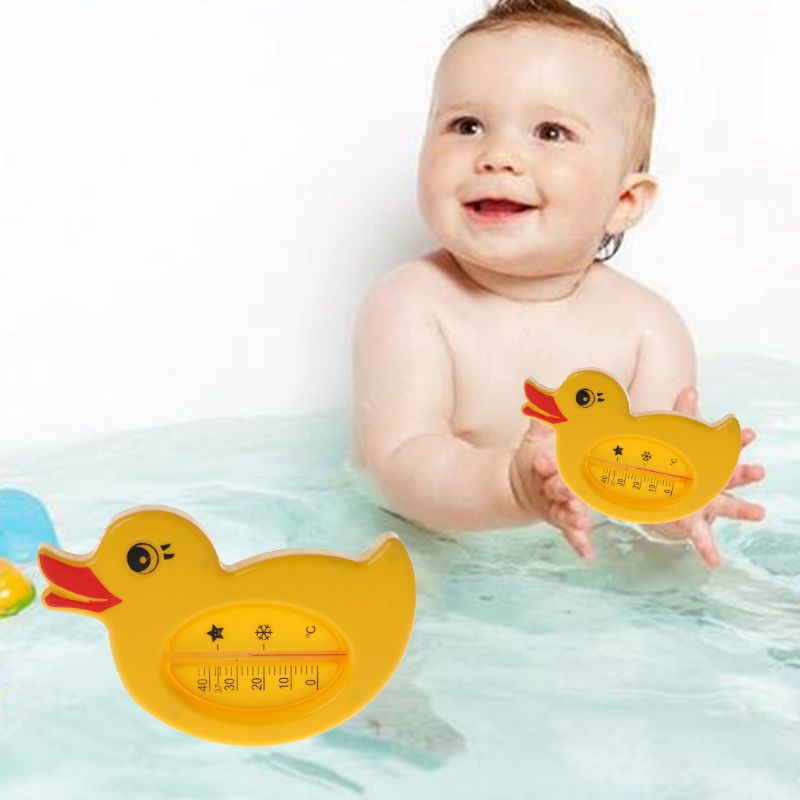 Baby Shower Thermometer Water Temperature Yellow Duck Cartoon Cute Bath Bathtub Bathing Supplies Kids Infant Room Indoor Toys