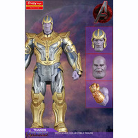 30cm 2 Head Crazy Toys Avengers Infinity Gauntlet Thanos Action Figure Toy 16 scale painted figure