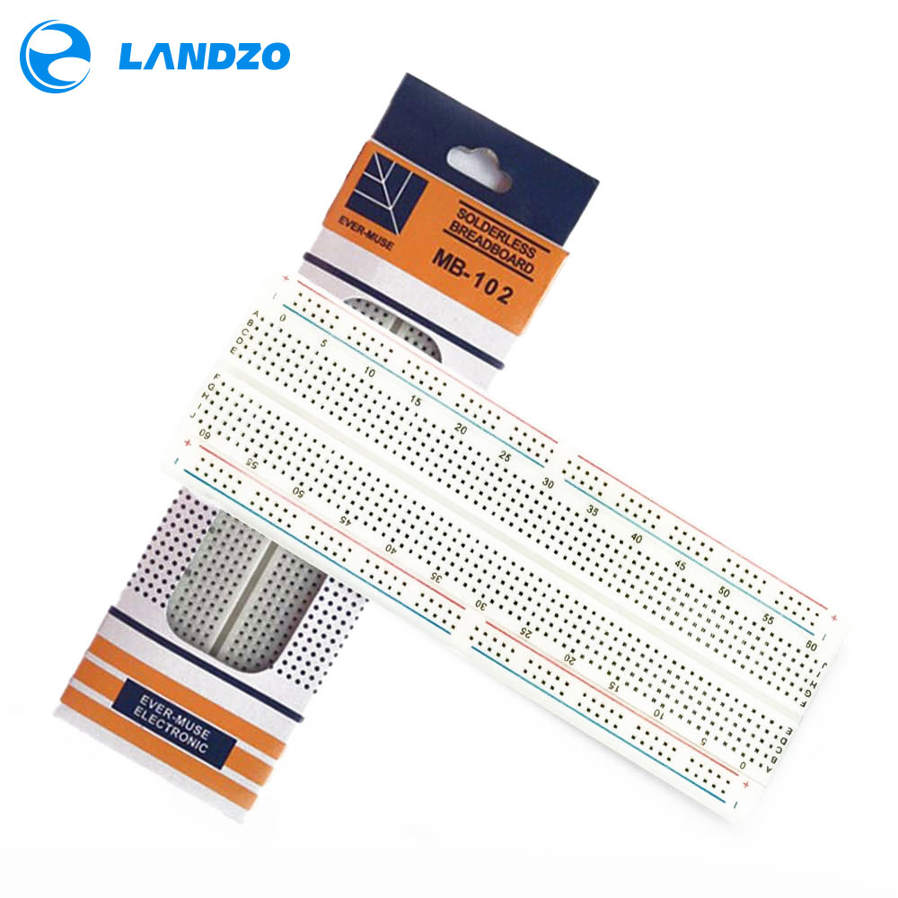 MB102 Prototype Breadboard For DIY KIT MB-102 Protoboard PCB Board BreadBoard 16.5X5.5CM 830Holes Solderless Universal Prototype цена