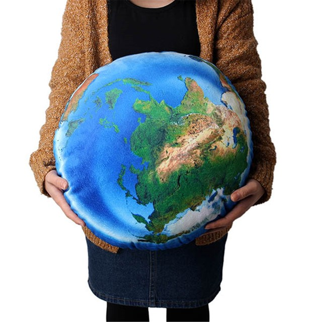 New ball shaped soft round cushions novel 3d world map plush throw new ball shaped soft round cushions novel 3d world map plush throw pillows home office car gumiabroncs Gallery