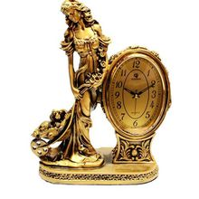 Clock Retro-antique Silent  Home Decoration European Seat Living Room Creative Classical Arrangement Antique Table