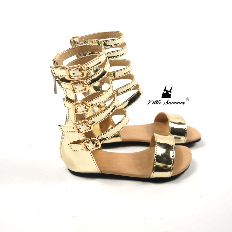 94c9f31f7ca148 Girls Gladiator Sandals Toddler little Girls Children Roman Sandals ...