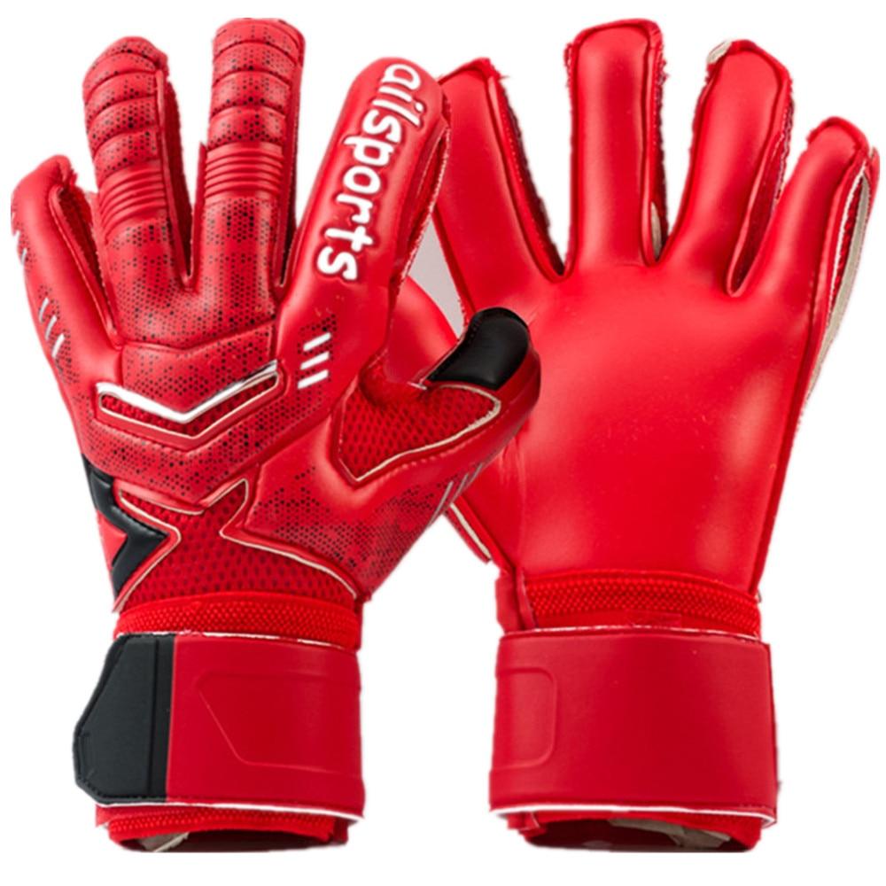 New Kids Men Goalie Soccer Gloves 3mm Thicken Full Latex 3mm Foam Professional Football Goalkeeper Gloves 5 Finger Save Guard Durable In Use