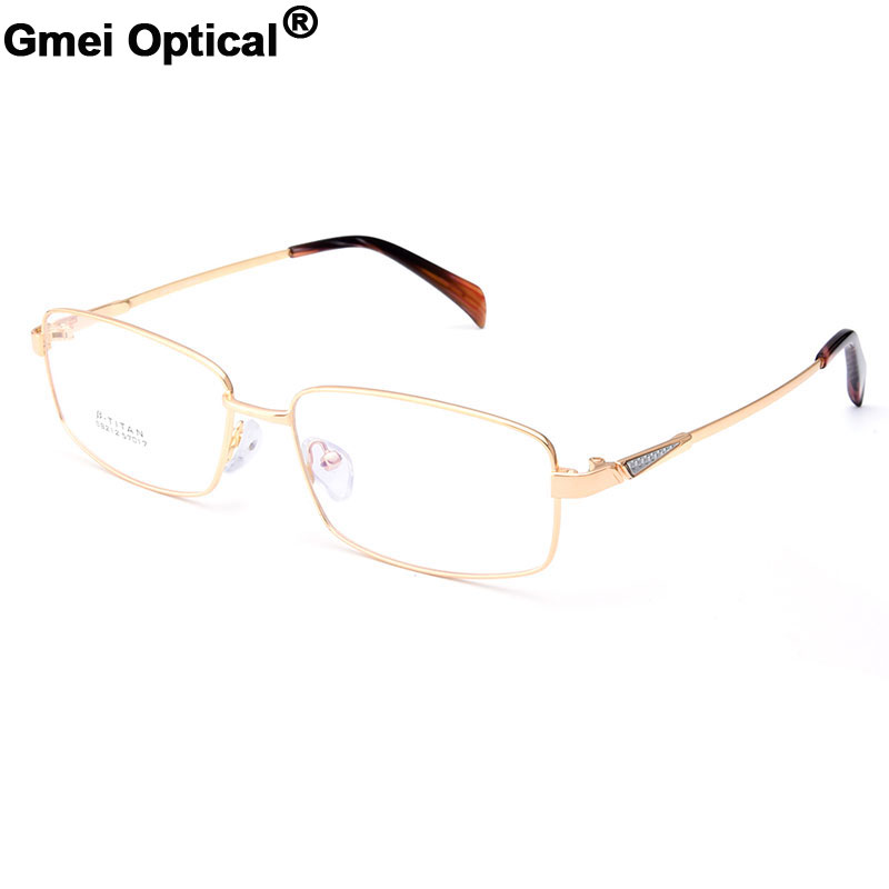 ccfcd258c2b Gmei Optical S8212 Alloy Metal Semi-Rimless Eyeglasses Frame for Men  Prescription Optical Eyewear Glasses