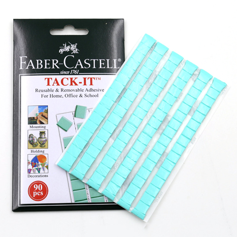 Blue Tack It Multipurpose Adhesive Clay Reusable Adhesive For Home Office School Removable Adhesive Putty Tabs 50g 90pcs