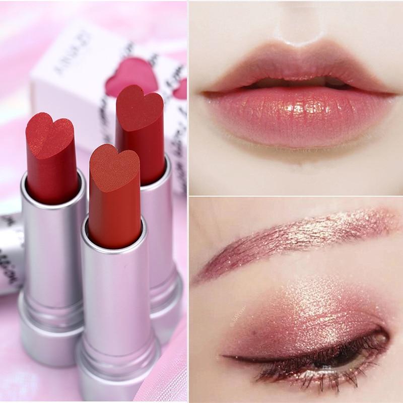 10 Colors Love Matte Lipstick Matte Beauty Lipstick Makeup Lasting Gorgeous Hear