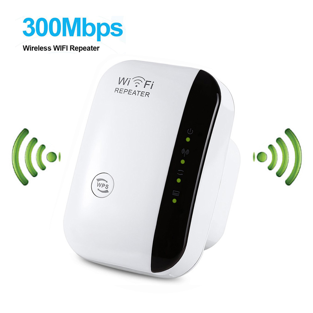 Wireless-N Wifi Repeater 802.11n/b/g Network Wi Fi Routers 300Mbps Range Expander Signal Booster Extender WIFI Ap Wps Encryption image