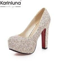 Karinluna 2019 Brand dropship big size 33-43 high-heeled par