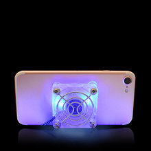 Universal Telefon Kühler Einstellbare LED Beleuchtung Tragbare Kühler Kühlkörper Cooling Pad Schnelle Wiederaufladbare Tablet