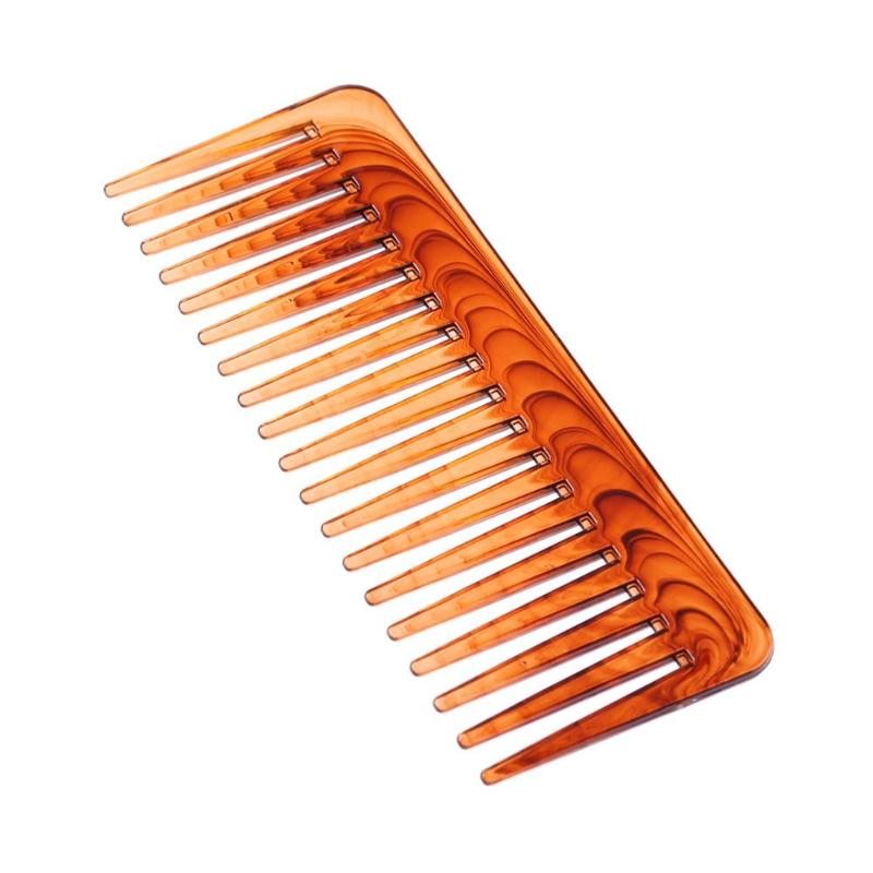 Wide Tooth Comb Brown Plastic Large Wide Hair Comb Hair Care Styling Tools Comb Tangle Hair Brush Stylist Care Tools
