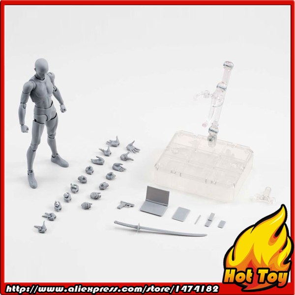 100% Original BANDAI Tamashii Nations S.H.Figuarts (SHF) Action Figure - Body kun DX SET (Gray Color Ver.) [pcmos] body kun dx