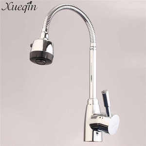 Image 2 - Xueqin Chrome Swivel Kitchen Faucet Modern Basin Faucets Mixer Tap Alloy Bathroom Tap Faucet Kitchen Mixer Cold and Hot Water