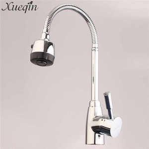 Image 2 - Xueqin Chrome ก๊อกน้ำห้องครัวโมเดิร์นอ่างล้างหน้าก๊อกน้ำแตะห้องน้ำโลหะผสม Tap ก๊อกน้ำห้องครัวผสมเย็นและน้ำร้อน