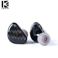 KB EAR Opal Dynamic Driver Hifi In Ear Earphone With Carbon Fiber Plate Headset With Metal Plated Earbuds PK Wireless Headphones