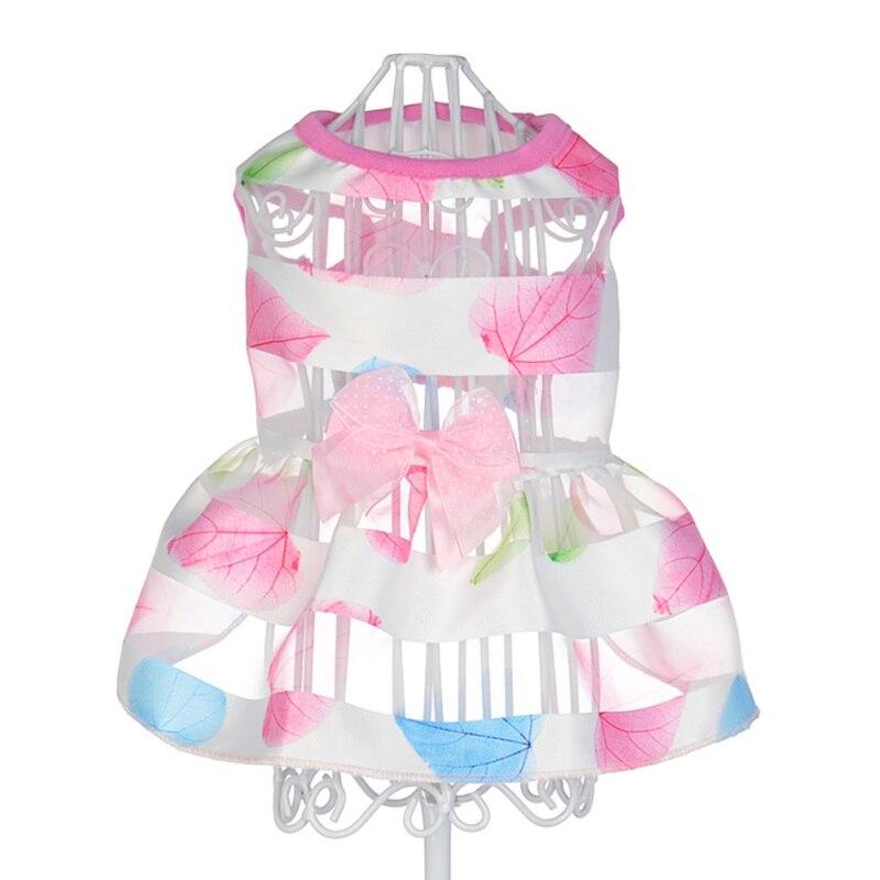 6 Colors Summer Cat Dog Puppy Wedding Princess Dress Pet Dogs Cats Bowknot Dresses Suits Newest