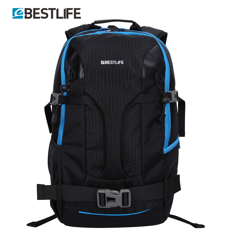 BESTLIFE Luggage Travel Duffle With Handle Double Shoulder Strap Chest Strap Bagpack Laptop Compartment Black Backpack/Mochila targus tst59604 gray black geo slim 15 6 inch laptop case with handle and shoulder strap