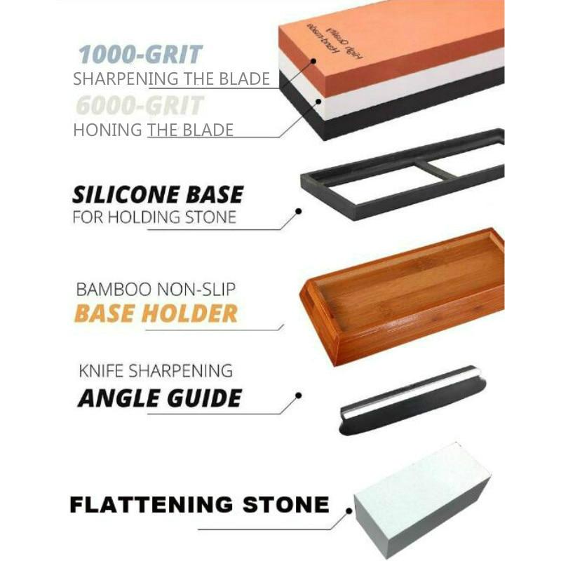 1000 6000 Set Corundum Sharpening Stone Whetstone Kitchen Knife Sharpener Household Tool H1