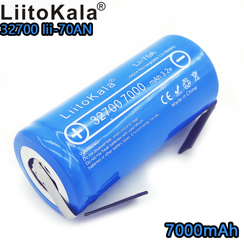 LiitoKala lii-70A LiFePo4 7000 mAh 3.2 V lithium fer phosphate 32700 batterie rechargeable nickel plaque bricolage