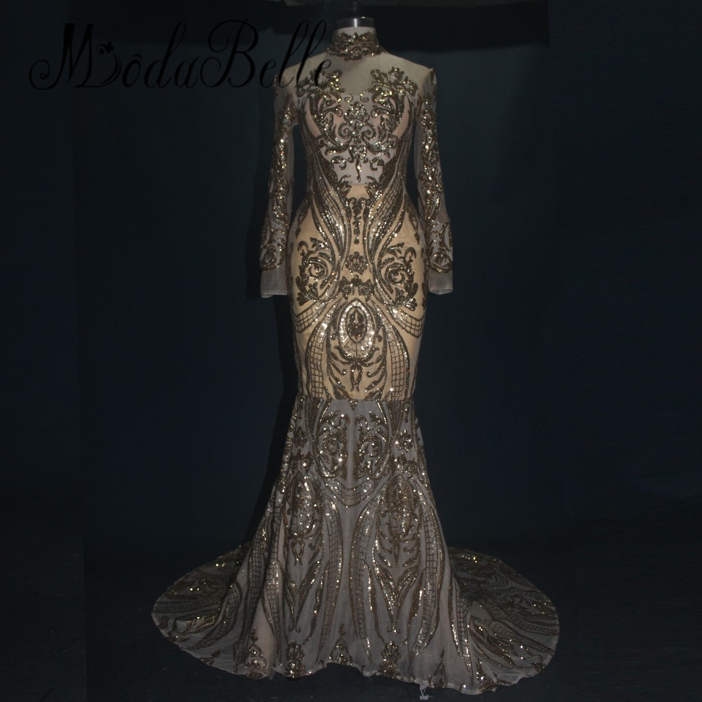 Popular Arabic Evening Gowns Dresses Long Sleeves-Buy Cheap Arabic ...