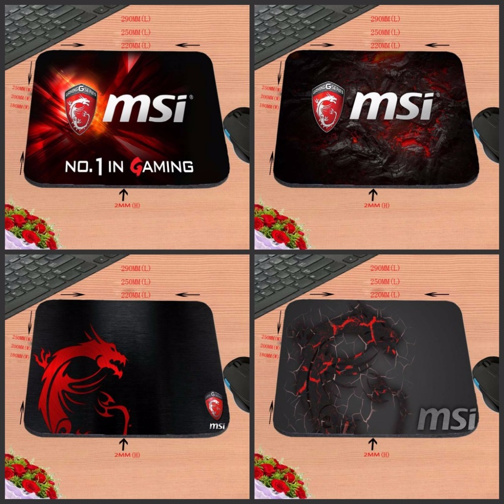 Print MSI Logo New Arrival Top Quality Customized font b Gaming b font Durable Mouse Mat