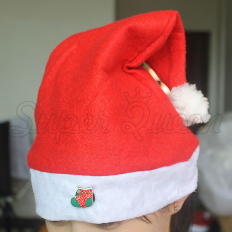 2 size adult child 2016 Merry Christmas santa claus hat 18/20 mm Snap Button good quality Accessories B345 diameter 29/24 cm