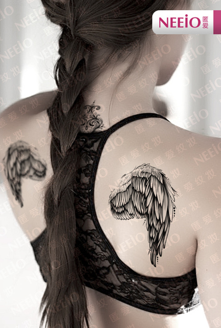 Ani002 Neeio Magic Scar Angel Wings Tattoo Henna Tatuagem Tattoos